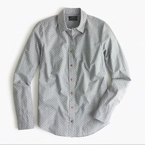 NWT J. Crew Heather Flannel Dot Perfect Shirt